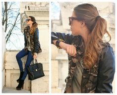 Scent of Obsession - Fashion Blogger daily style, travels and style tips : CAMOUFLAGE AND LEATHER DETAILS