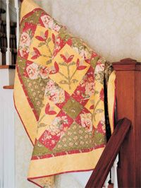 Diane Nagle designed this easy to piece applique for the May/June issue of Love of Quilting. http://www.fonsandporter.com