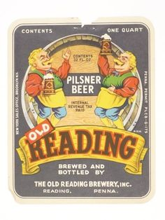 Old Reading Brewery Inc.  Reading, PA, 1937