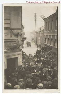 Building on left now Tesco. Dorset Weymouth Lower Street Alban Street Real Photo Vintage Postcard