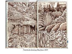 John Vernon Lord. Notebook Drawing