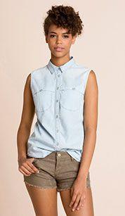 Camisa vaquera en vaqueros - azul claro Button Downs, Button Down Shirt, Men Casual, My Style, Mens Tops, Shirts, Women, Fashion, Blouses