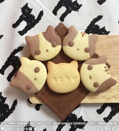 meow biscuits. Kawaii food | Cute Food | Pinterest (Baking Desserts Cute)