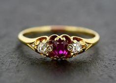 So pretty Etsy listing at https://www.etsy.com/listing/171101857/antique-ruby-ring-victorian-ruby-diamond