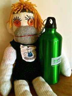 Hos-ary, my Sock Mon-key cheerleader on World Water Day! Monkey 3, World Water Day, Sock Monkeys, Hip Hip, My Socks, Upcycle, Cheer, Diy Crafts, Christmas Ornaments