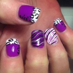 pretty purple nail designs 2015