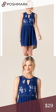 Brand New Hi Low Hem Francesca's Dress Size M Brand New Francesca's Dress • Hi Low Hem • Gorgeous Blue with White Embroidery • Size Medium Free Shipping for all orders of $40 or more including bundles !! Be sure to comment so I can set up a separate listing just for you to reflect the shipping discount Francesca's Collections Dresses