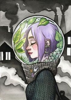 condition of air in Warsaw, where I live, is terrible since last days. People are told not to leave homes if nessesary, to not stay outside for a long time. There's a huge smog above the city, air . drawing girl breathe by Fukari on DeviantArt Art Inspo, Kunst Inspo, Inspiration Art, Easy Drawings, Pencil Drawings, Random Drawings, Art Environnemental, Art Du Croquis, Environmental Art
