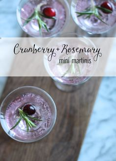 Sip It :: Mini Holiday Martini | Thoughtfully Simple