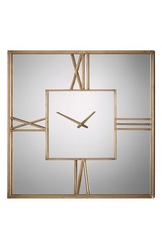 Uttermost Square Mirrored Wall Clock available at #Nordstrom