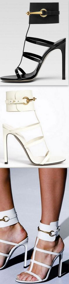 'Ursula' Cage Sandal Heels in White or Black #giuseppezanottiheelswhite #giuseppezanottiheelsblack