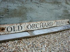 Rustic Distressed Old Orchard Beach Maine ME Beach Decor Nautical Wood Sign by TheUnpolishedBarn,