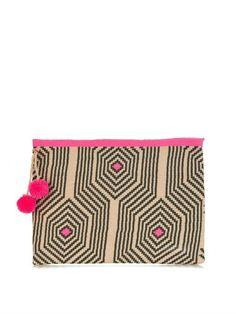 Sophie Anderson Alder woven-cotton clutch