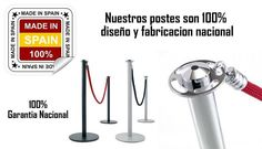 Nuestros postes no son más caros, son mejores, diseñados y fabricados en España dando calidad, diseño y garantía.