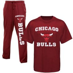 29e45d039093 Chicago Bulls Pre-Game Tri-Blend Knit Pants and T-Shirt Set -