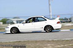 Honda Integra Type R 4 doors in a track day.