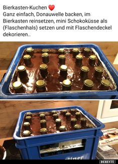 Bierkasten-Kuchen food and drink news - Recipes Easy Cake Recipes, Dessert Recipes, Oreo, Beer Humor, Pumpkin Spice Cupcakes, Box Cake, Holiday Desserts, Food Cakes, Really Funny