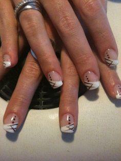CHARLENE Classy Nail Designs, French Nail Designs, Nail Art Designs, Toe Nail Art, Acrylic Nails, Gel Nails, Glitter Manicure, Pink Manicure, French Nails
