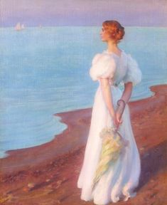 View On the Shore of Lake Erie by Charles Courtney Curran on artnet. Browse more artworks Charles Courtney Curran from Caldwell Gallery Hudson. Woman Painting, Figure Painting, Painting & Drawing, Lake Erie, Global Art, Oeuvre D'art, American Artists, Art For Sale, Art History