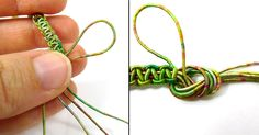 a nice way to make a loop at the end of a macrame bracelet or necklace, full #DIY and pictures