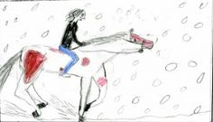 Alton Brander, age 16, of St. Ignatius, Montana, created this artwork for the Missoulian's weather page. Read more: http://missoulian.com/news/state-and-regional/riding-in-the-rain-weather-drawing-for-march/article_e28bce74-6e48-11e1-837d-0019bb2963f4.html#ixzz1pBlhlOw3