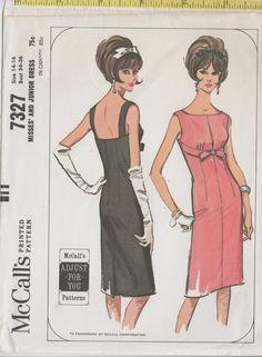 1960s Dress Pattern McCalls 7327 sz 14 b 34 by ThePerfectPattern