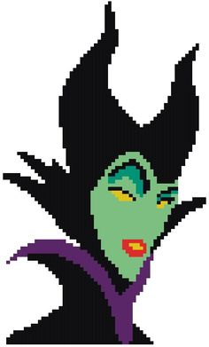 Cross Stitch Pattern Maleficent by RagingStitches on Etsy, $5.00