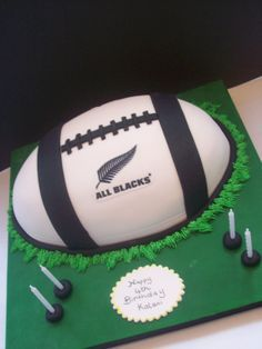 An online cake shop that delivers. 60th Birthday Cake For Men, Birthday Wishes For Kids, 7th Birthday, Rugby Cake, All Black Party, Amazing Wedding Cakes, Birthday Cake Decorating, All Blacks Rugby, Celebration Cakes