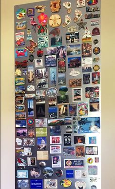 Magnetic panel to display collectible magnets from travels