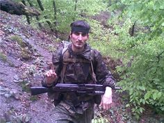 Chechnya. Rebel with AK-74 and GP-25 40mm grenade launcher.
