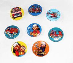 Mini-Buttons Feuerwehr - Kindergeburtstag Feuerwehr Mitgebsel http://www.firlefantastisch.de/epages/15496426.sf/de_DE/?ObjectPath=/Shops/15496426/Products/31899