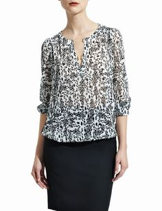Gold-Buckle Blouson Blouse from THELIMITED.com