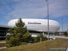 Estadio Allianz Arena. Munich, Opera House, Germany, Building, Travel, Paths, Europe, Architecture, Viajes
