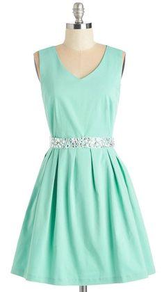 Sophisticated Spirit Dress in Mint