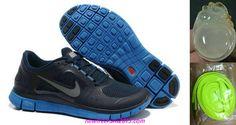 New Mens Nike Free Runs 3 Light Midnight Game Royal Silver Shoes