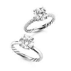 David yurman style wedding rings
