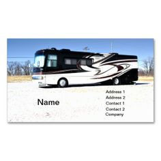 Car related white and black colored business card business cards large rv or recreational vehicle business card colourmoves