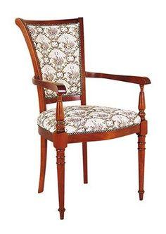 BERTA Židle zámecká s polstrem, buk > varianta s područkou