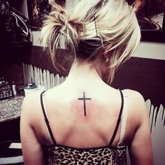 Small cross tattoo! My first tattoo and I LOVE it<3 the only one that always has and always will have my back. Praise him