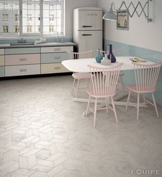 Hexawood Chevron Grey : Baldosas y azulejos de Equipe Ceramicas