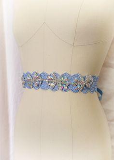 "French Blue Crystal Rhinestone Lace Sash Belt Bridal Maternity Sash Belt , Wedding Dress sash , Flower Girl Bridesmaids , Pastel Obi by FALAFALA 1.5""inch double face satin Adult Size :Length 270cm = 3 yards*""*""*""*""*""*""*""*""*""*""*""*""*""*""*""*""*""*""*""*""*International Shipping - Ships Within 3-5 business daysItem location - Hong Kong Estimated delivery time : United States - 12-22 Business DaysUnited Kingdom - 10-25 Business DaysCanada - 18-30 Business DaysAustralia - 14-28 Business DaysEurope…"