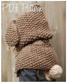 Knitting PATTERNThe Royalynn Rabbit Hood 6/9 por Thevelvetacorn