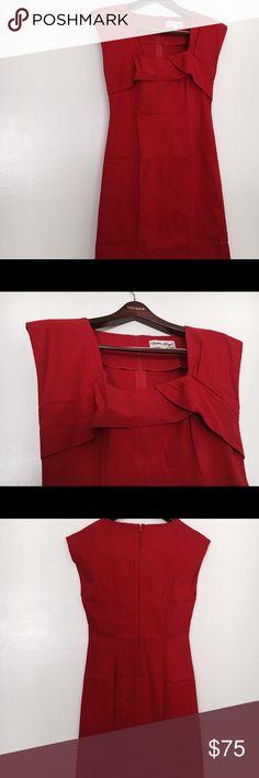 Bettie Page Retro Wriggle Dress XXL Bettie Page Retro Wriggle Pencil Gorgeous Red Dress XXL Bettie Page Dresses Midi