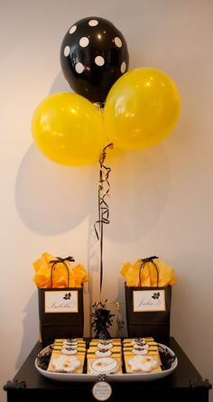 Honey bee birthday. For more party inspiration visit www.getthepartystarted.etsy.com