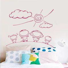 Διακόσμηση παιδικού δωματίου με αυτοκόλλητα τοίχου