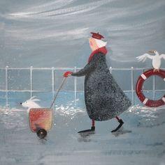 'The Navigator' by Jennifer Verny-Franks. Blank Art Cards by Green Pebble. www.greenpebble.co.uk