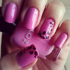 Zoya Nail Polish in Shelby with leopard print accents! Shared via Instagram