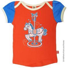 T-shirt 'Pony' - Retro-Rock-and-Robots - Belleketrek.be - Online kinderkleding
