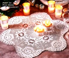 Pink Rose Crochet: Angel Table Center for Christmas Crochet Thread Patterns, Crochet Angel Pattern, Christmas Crochet Patterns, Baby Knitting Patterns, Crochet Christmas, Filet Crochet, Crochet Wool, Diy Crochet, Crochet Tablecloth
