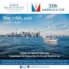 Watch the 35th America's Cup from Merchants River House this May!